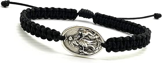 knot clasp gold tone medal /& prayer Mary Undoer of Knots Cord Bracelet with two adjustable knots