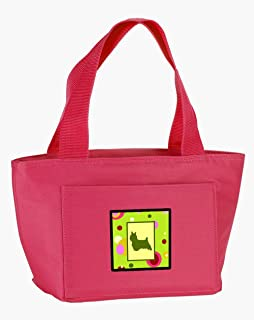 Caroline's Treasures CK1056PK-8808 Lime Green Dots Norwich Terrier Lunch Bag, multicolor