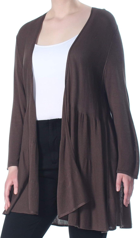 Alfani Womens Knit Tiered Cardigan Sweater