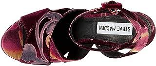 Womens Jodi Platform Sandals Burgundy Velvet 9.5M