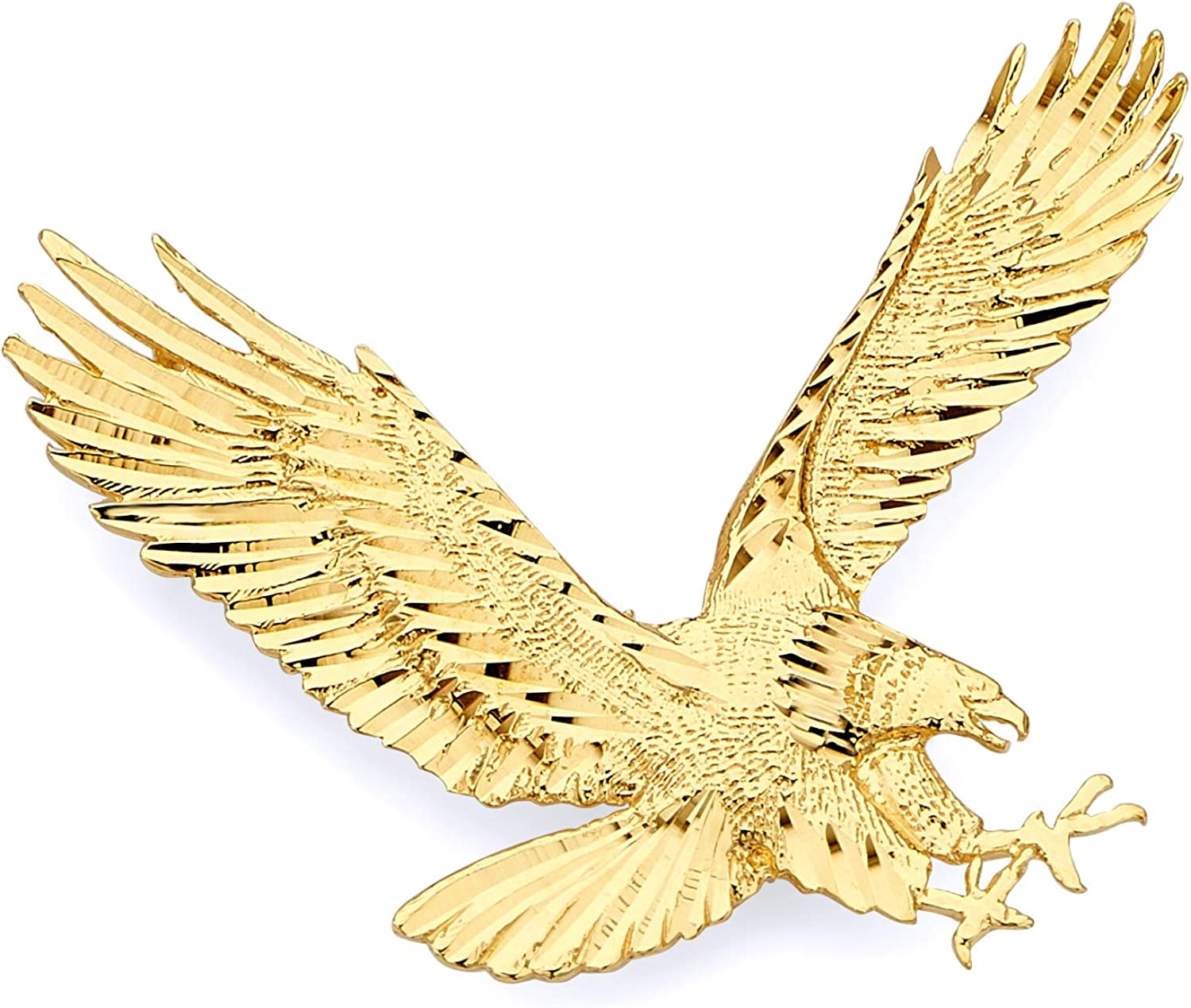 14k Yellow Gold Pendant for Pendant Necklace 14k Gold Eagle Charm for Charm Necklace Eagle Necklace Animal Jewelry Gold Birthday Gift