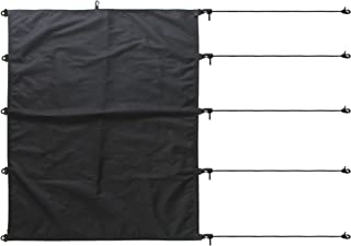 YYST Kayak Cockpit Cover Drape Surfboard Cockpit Drape Kayak Cockpit Seal - Black - No Kayaks and Sups