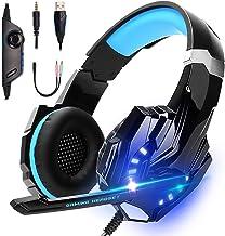 LonEasy Auriculares para Juegos, Auriculares para Juegos con Aislamiento de Ruido con Cable de, Control del Volumen audifo...