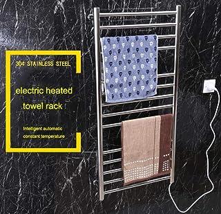 HUIJIN1 Toallero eléctrico, baño Radiador montado en la Pared 304 toallero Caliente de Acero Inoxidable Pulido, 162 Watts, 14 baños