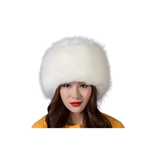 i-Furzone Women Lady Faux Fox Fur Russian Cossack Hat 8d0a5a40c3a