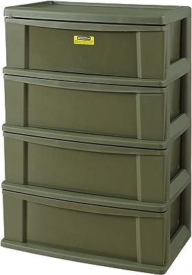 東谷(Azumaya-kk) カラーボックス グリーン 幅60×奥行39×高さ85.5cm ワイドワゴン 4段 LFS-254GR