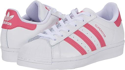 Footwear White/Super Pink/Core Black
