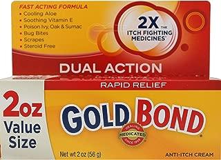 Gold Bond Medicated Anti-Itch Cream Maximum Strength 2 oz (Pack of 5)
