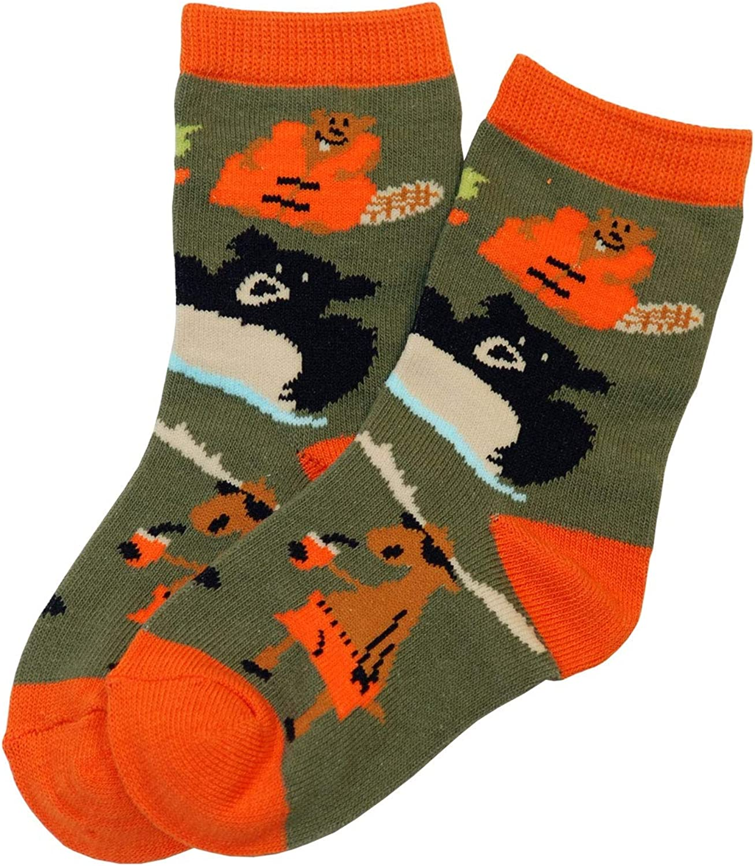 Animal World - Bear Up a Creek Kid's Socks