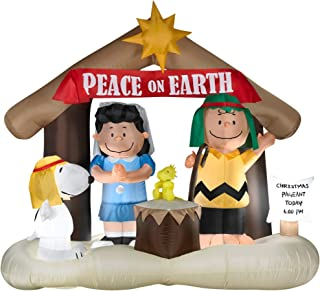 Christmas Airblown Inflatable Peanuts Nativity Scene