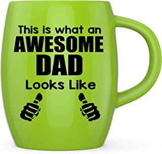 Father's Day Gag Gifts for Daddy This Is What An Awesome Dad Looks Like Novelty Drinkware Cups For World's Greatest Papa Ever, New Father, Husband Ceramic Coffee Mug Tea Cup