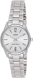 ساعة يد للنساء من كاسيو بحركة انالوج ومينا ساعة فضي وسوار من الستانلس ستيل - طراز LTP-V005D-7BUDF