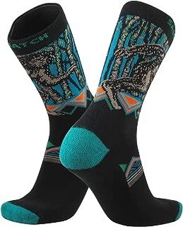 Small TCK Elite Journey Knitted Sasquatch Big Foot Squatch Crew Socks USA Made