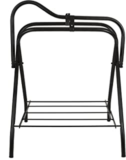 portable folding saddle rack