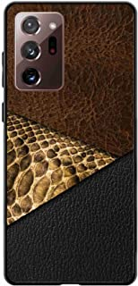 Okteq Case cover with side tpu bumper full protection for Samsung Galaxy Note 20 Ultra - leather browen and black By OKTEQ