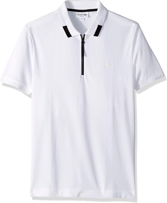 Lacoste Men's Short Sleeve Pique Pima Ultra Leger Slim Fit Polo