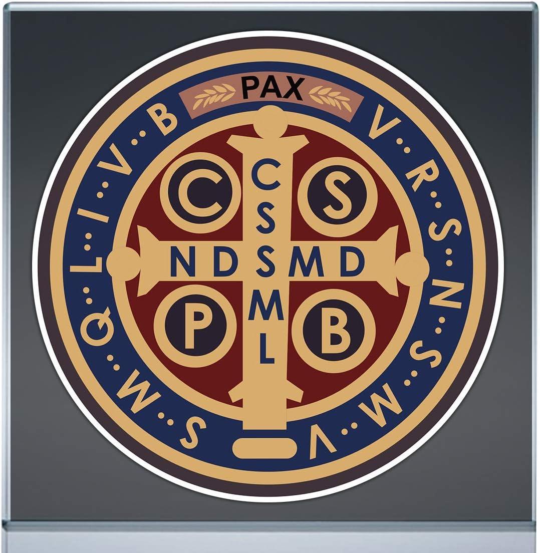 Stickers Saint Benedict Medallion San Vinyl Benito Medalla ファクトリーアウトレット Decal 日本製