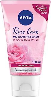 NIVEA Rose Care Micellar Face Wash Organic Rose All Skin Types, 150 ml