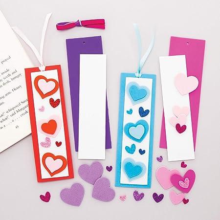 Bastelset f/ür Kinder zum Dekorieren an Valentinstag Baker Ross AX727 Herz Laternen Set 4er Pack