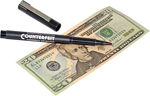 3 Pens per Pack 200045304 Black Barrel MMF Industries Counterfeit Detector Pen 5.5 Inches