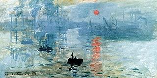 Claude Monet Sunrise Impressionist Fine Art Print (Unframed 12x24 Poster)