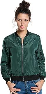 AIMADO Women's Spring Slim Zip Up Jacket Downtown Field Utility Co Casual Jackets