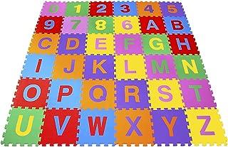 Tapete Alfanumérico Pequeno Eva 36 Peças Embalagem com Zíper Carlu Brinquedos