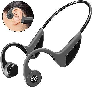 GlobalCrown Benledning hörlurar trådlösa, Bluetooth 5.0 benledning hörlurar handsfree Bluetooth-headset med mikrofon för s...