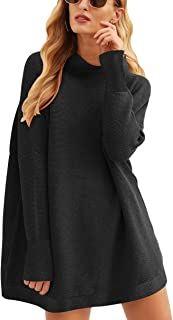 Women Casual Turtleneck Batwing Sleeve Slouchy Oversized...