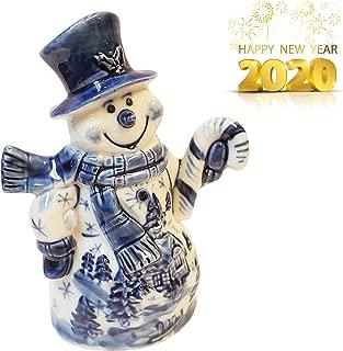 Sweet & Beauty Exclusive Porcelain Gzhel Snowman Hand Painted, 4''
