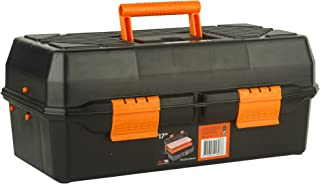 BLACK+DECKER BST81541 17-inch Plastic Cantilever Tool Box with Inner Transparent Lid