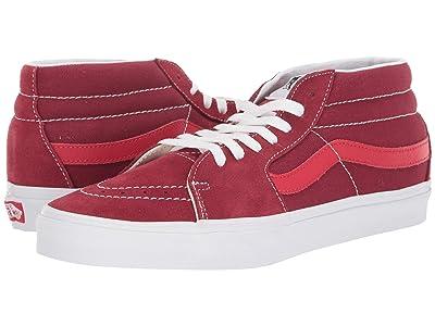 Vans SK8-Mid ((Retro Sport) Biking Red/Poinsettia) Skate Shoes
