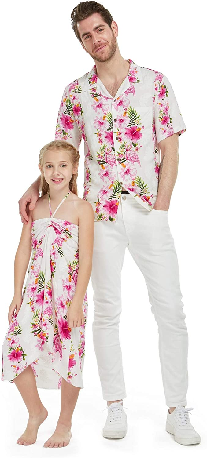 Matching Father Daughter Hawaiian Popular brand in the world Luau Dress Outfit Large special price Cruise Shirt