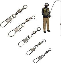 150 Fishing Swivels Fishing Tackle Assortment - Fishing Swivels with Snaps – Snap Swivels Fishing Swivel – Fishing Snap Swivels Snap Swivel Fishing Swivels Freshwater – Swivel Fishing Clips