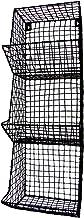 TG,LLC Treasure Gurus Wire Wall 3 Storage Bin Fruit/Vegetable Basket Primitive Rustic Farmhouse Decor