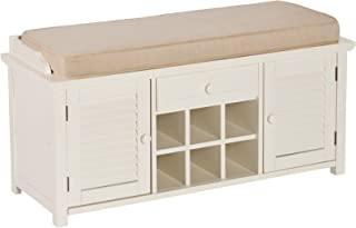 Southern Enterprises Storage Bench, Antique White