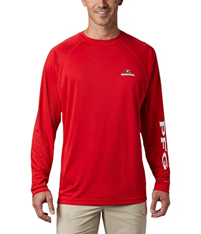 Columbia College Georgia Bulldogs Terminal Tackletm Long Sleeve Shirt (Bright Red/White) Men