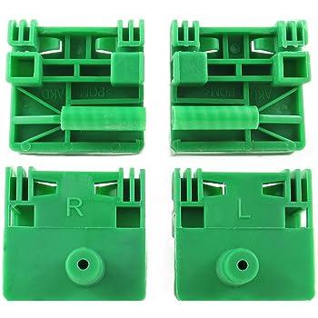 poulie clips Compatibilit/é avec v/é c/âbles de r/égulation de vitre LTS Kit de r/éparation pour l/ève-vitre /électrique avant gauche c/ôt/é passager pour v/éhicule avec conduite /à droite