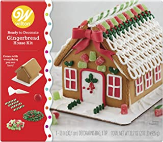 Wilton Ready-to-Decorate Gingerbread House Decorating Kit, Medium Traditional