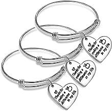 Nimteve 3PCs/Set Teacher Bangles for Women Teacher Appreciation Gifts Expandable Bangle Bracelets Thank You Gifts for Teachers
