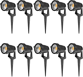 10X 12V LED Spotlights Landscape Warm Light Lamp Waterproof Outdoor Garden Yard Lights Outdoor Spotlight Led Pathway Light...