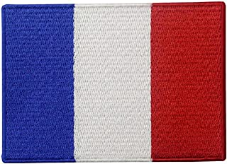 France Flag Embroidered Patch French Applique Iron On Sew On National Emblem