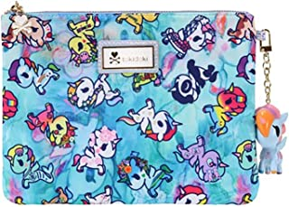 Tokidoki Watercolor Paradise Zip Pouch in Blue