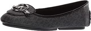 Michael Kors Lillie Moccasin Flats (8 M US, Black Logo)