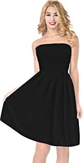 LA LEELA Womens Short Tube Dress Rayon Solid Swim wear Plain