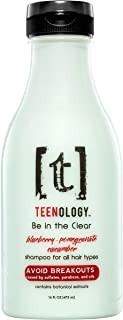 Avoid Breakouts- TEENOLOGY Blueberry Pomegranate Cucumber Shampoo, Sulfate-Free, Paraben-Free, Noncomedogenic, Cruelty Free, Contains Natural Botanical Extracts such as Comfrey and Aloe Vera 16 oz