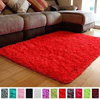 bright red rugs