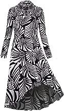 Hibelle Women's Long Sleeve Pleated Swing Casual Midi Dress