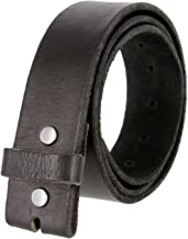 BS-40 100% Full Grain Leather Replacement Belt Strap with Snaps 1 1/2