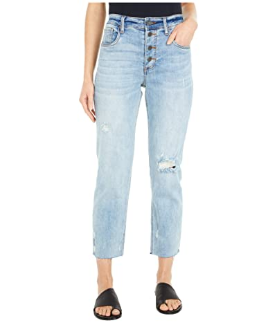 KUT from the Kloth Rachel Mom High-Rise Straight Crop in Enticing (Enticing Wash) Women
